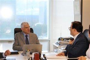 Jorge Rachid e Marcus Vinicius durante a reunião