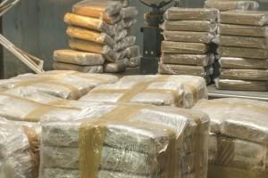622 quilos foram apreendidos na casa dos dois suspeitos