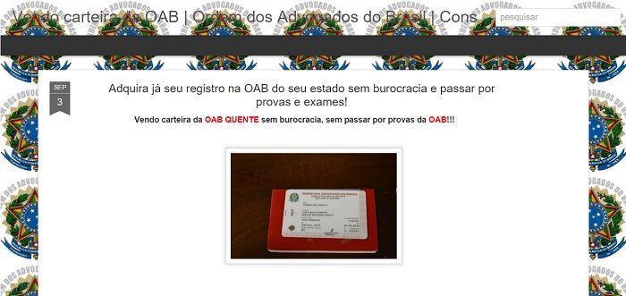 venda de carteira da oab 2