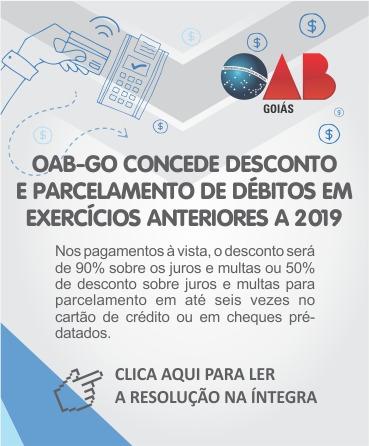 OAB desconto parcelamento exercicio 2019